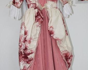 Disfraz de petite Marquise pink 10 years