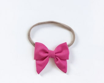"Baby headband with bow * large hair bow ""Louisa"" pink"