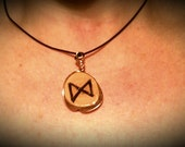 Unique OOAK Handmade Elder Futhark Rune Pendant *Choose your own* 99% Pure Copper. Sealed in High Clarity Resin. Australian Recycled Wood