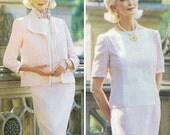 """Super Chic Ladies' Suit! Vintage ©1995 """"The Vogue Woman"""" Sewing Pattern 9410 Misses' Petite Jacket & Dress, Sizes 18-20-22, Uncut with FFs"""