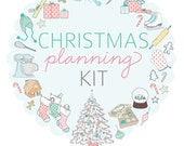 Vintage Pastel CHRISTMAS PLANNING Kit with scripture- Digital File Instant Download- gift planning, gift records, calendars