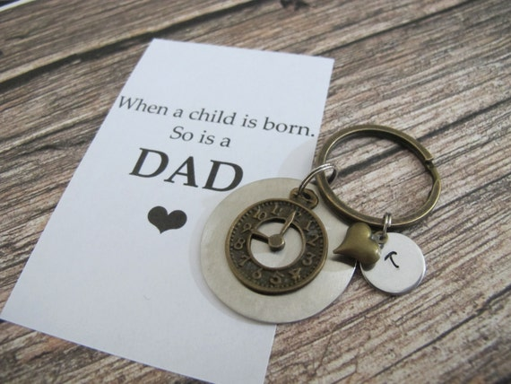 First time dad personalized name keychain new dad by for Father s day gifts for first time dads