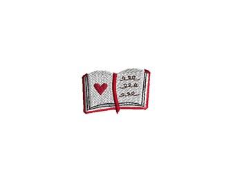 Mini Book Machine Embroidery Design-INSTANT DOWNLOAD