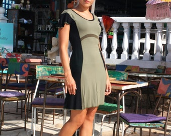 SALE! Tapas Dress, Short Jersey Dress, Shortsleeve Summer Dress,