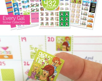 "Stickers for Planners! Get 432 Assorted Event Stickers for any planner or calendar! Size 3/4"" x 3/4"" [5 pks of 432 stickers] [Item #2003]"