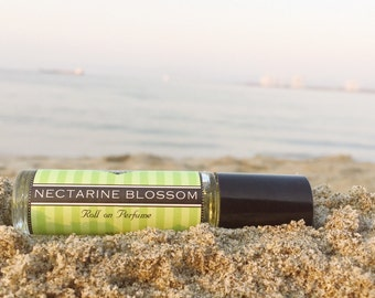 NECTARINE BLOSSOM || Roll on Perfume || Birthday Gift for Her || Long lasting perfume || vegan perfume || 25% off sale on your FIRST order