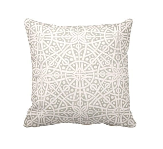 Decorative Throw Pillow Cover Grey Throw Pillows for Couch