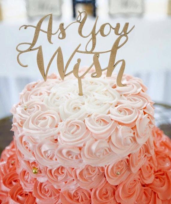 Great Gatsby Cake Topper, Roaring 20s Cake Topper, Anniversary Cake Topper,  As You Wish Cake Topper, Wedding Cake Topper, Gold Cake Topper