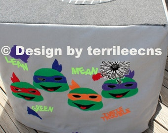 Felt Playhouse | Card Table Tent Felt Play House | Ninja Turtle Playhouse - TMNT - Card Table Cover - Turtle Lair