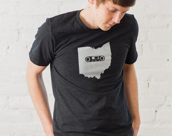 Ohio Mixtape Charcoal Gray T-shirt