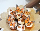 Edible Butterflies- Assorted size Monarchs - Cake & Cupcake Toppers - Wedding Cake Decoration