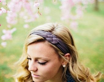 Women's Headband, Taupe Headband, Stretchy Headband, Sailor Knot Headband, Adult headband, Cloth headband, Nautical, Gift for her