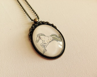 Magical Merhorse Storybook Pendant
