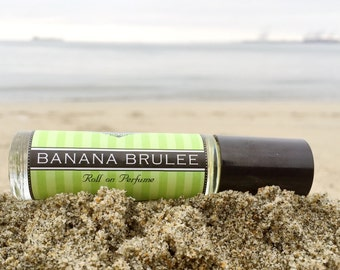 BANANA BRULEE || Roll on Perfume || Birthday Gift for Her || Long lasting perfume || vegan perfume || Gift for Mom