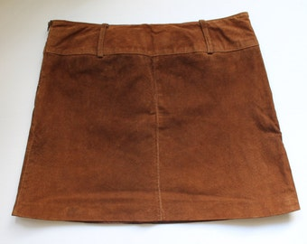 Short Suede Skirt Brown /Small
