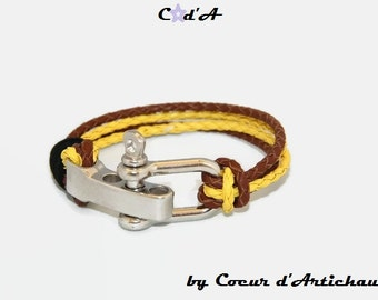 Bracelet leather/feast of the fathers/bracelet leather man man