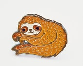 Enamel Pin Sloth Pin Baby Sloth Enamel Pin Sloth Jewelry Cute Sloth Gift Kawaii Brooch Kawaii Jewelry Sloth Brooch Cute Pins