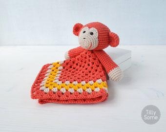 Monkey Lovey Pattern | Security Blanket | Crochet Lovey | Baby Lovey Toy | Blanket Toy | Lovey Blanket PDF Crochet Pattern