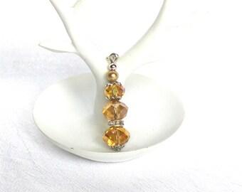 glittering pendant, handmade jewelry, necklace pendant, charm pendant, beige silver trinket, elegant pendant, gift for her