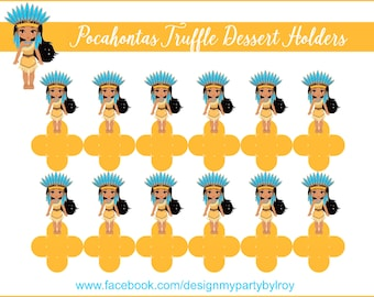 POCAHONTAS, POCAHONTAS HOLDERS, Pocahontas Party Decor, Pocahontas Forminhas, Pocahontas Party Favors,Pocahontas Party Printable,Pocahontas.