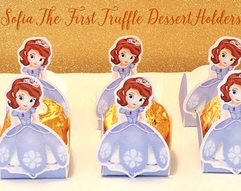 SOFIA THE FIRST Dessert Holders, Sofia the First Party Decor, Sofia the First Chocolate Cups, Sofia the First Party Favors, Sofia the First.