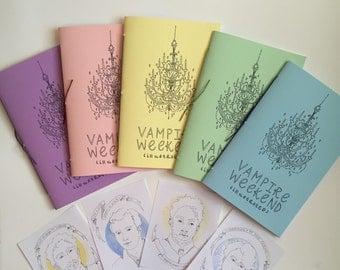 Vampire Weekend Zine- Ezra Koenig Chris Baio Chris Tomson Rostam Batmanglij Drawing Illustration