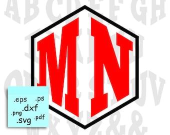 Monogram fonts - Monogram font svg - Fonts for silhouette - Fonts for Cricut - SVG fonts – 2 letters monogram font