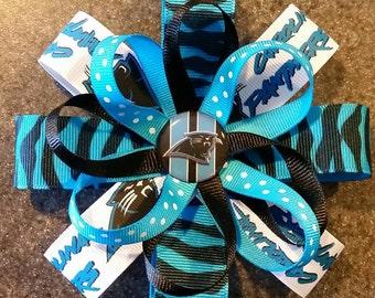 Carolina Panthers Hairbow or Headband - 2 sizes available