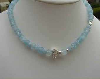 Chain aquamarine, with genuine aquamarine, exceptionally with silver