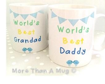 Daddy Mug - World's Best Daddy Personalised Mug - Mug Gift, World's Best Grandad