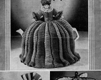 Vintage 1940's Knitting pattern 3 Knitted TEA COSIES and Egg Cosy in odds and ends of wool Bestway 1220 pdf Download