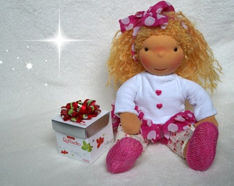 SALE 20% OFF, Waldorf doll, waldorf inspired doll, steiner doll, doll waldorf, cloth doll, fabric doll, cuddle doll, handmade