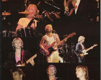 The Police Sting Collage 1980's Rare Poster