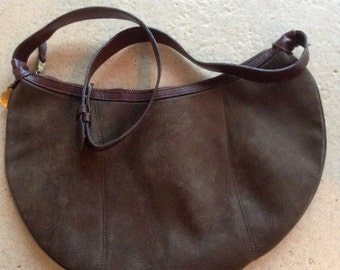Mulberry, Made in England, Brown Nubuck Leather Bag