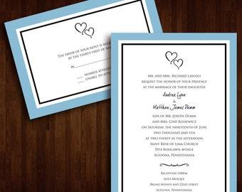 Simple, Stylish, Hearts Wedding Invitation