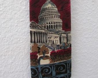 16-0508 Vintage Capitol Hill Necktie / US Capitol Tie / Washington DC Tie / Necktie / Presidential Election / Politics / American Vintage