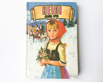 Vintage Heidi Book, Dean's Classics Number 1, Johanna Spyri Book, Hardback, Dean and Sons Ltd, 1960s, 01094