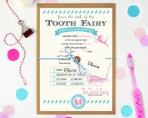 Tooth Fairy letter, Tooth Fairy certificate, Baby Milestone, First Lost Tooth, Letter from the Tooth Fairy, Tooth Fairy Keepsake