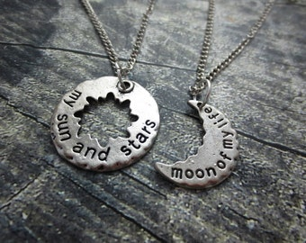 Game of Thrones My Sun and Stars / Moon of My Life Couple's Necklace Set Daenerys and Khal. Song of Ice and Fire