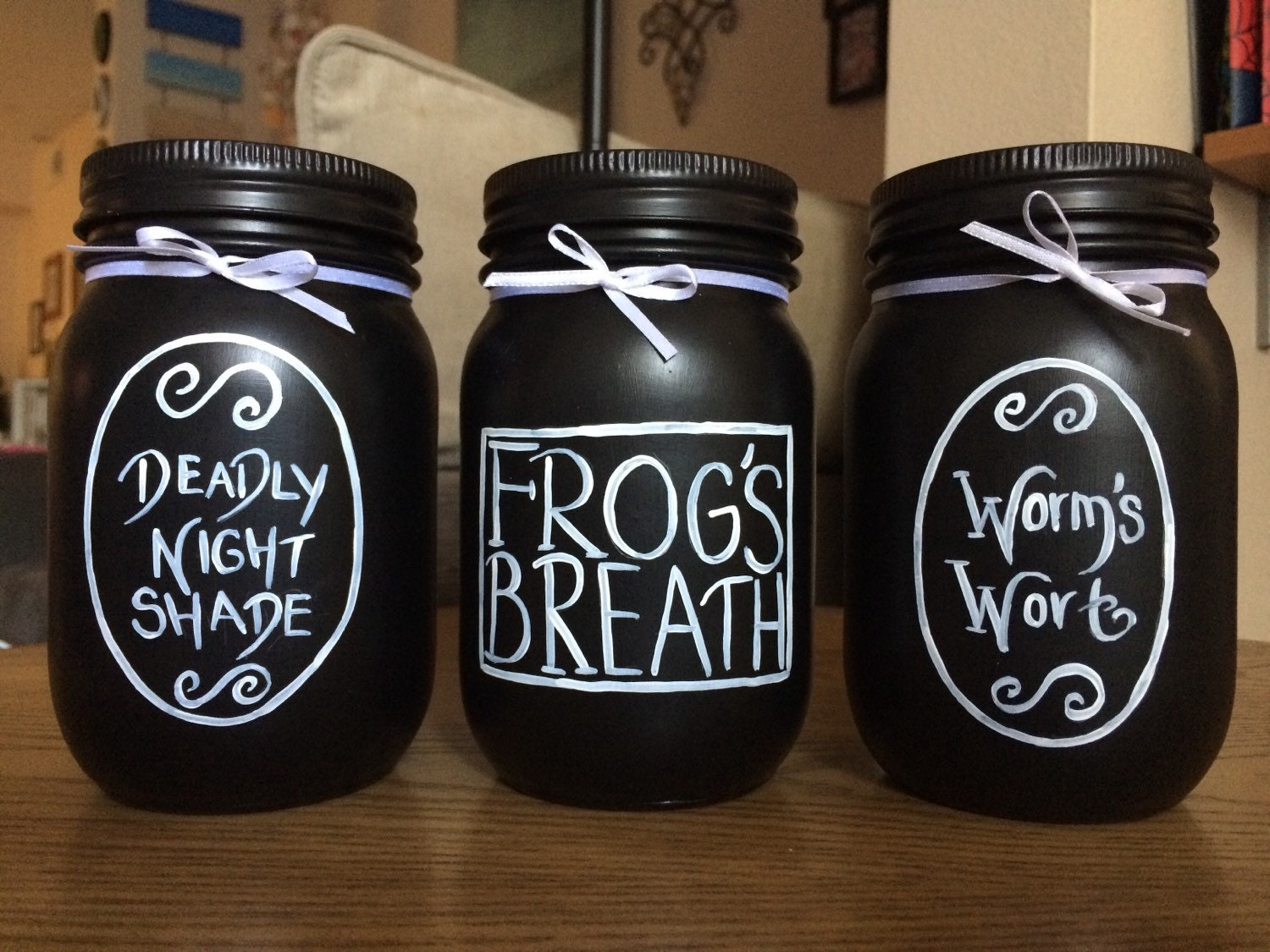 Nightmare Before Christmas Black and White Sally Potion Jars