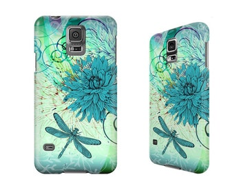 Floral phone case, iPhone 6, 6S, 6 Plus, 6S Plus, iPhone SE, 5C, 5, 5S, 4, 4S, Samsung Galaxy S7, S6, S5, S4, dragonfly 3D wrap case. W231