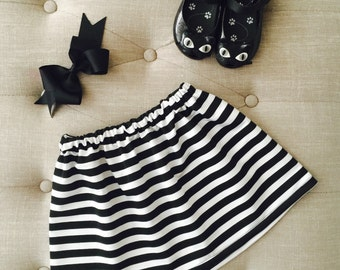 Black and White Striped Skirt for Baby
