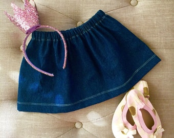 Jean Skirt for Baby to Big Girls!