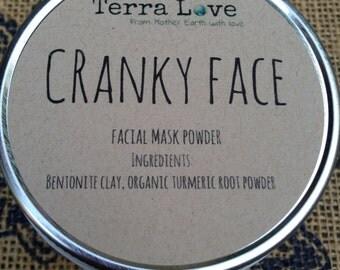 Cranky Face face mask powder