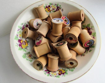Lot of Vintage Wooden Spools - 32
