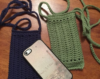 Crochet phone cover / phone case / phone holder / cell phone sleeve.