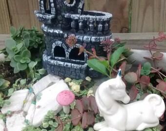 Castle Fairy House-   Miniature Garden Gnome Home Cottage Estate Kit
