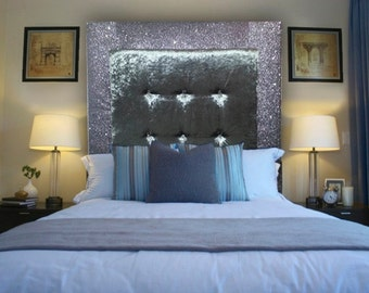 upholstered headboard with memory foam glitter and crushed velvet headboard all sizes single