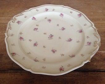 Vintage French Limoges Rose Serving Plate