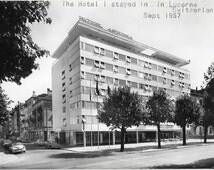 Hotel Restaurant Astoria, Lucerne, Switzerland, Real Photo Unused 1957 Black and White Postcard